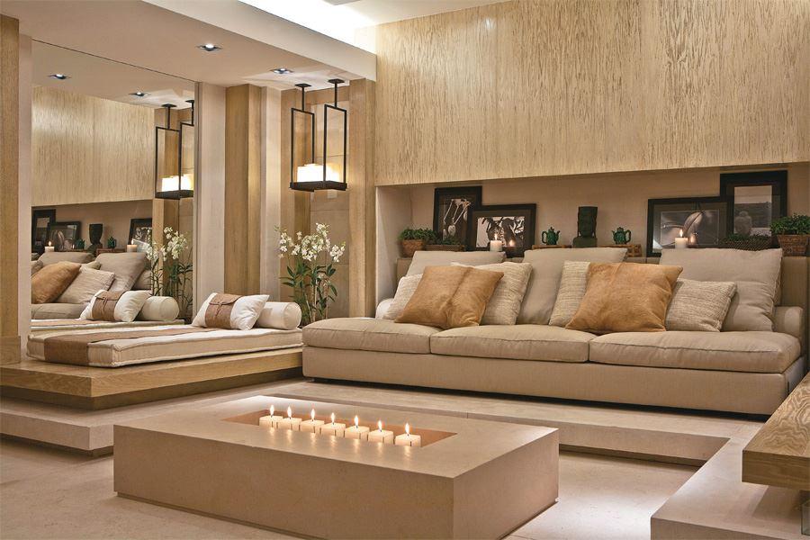 Sala Pequena Com Sofa Bege ~ Almofadas renovam o visual da sala de estar  Jornal Repercussão